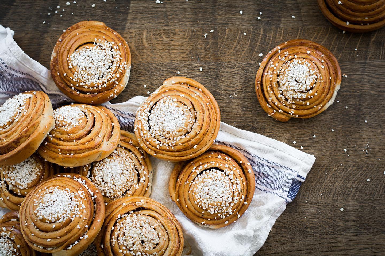 Skärets Café & Bistro nybakade bullar från Smögens bageri